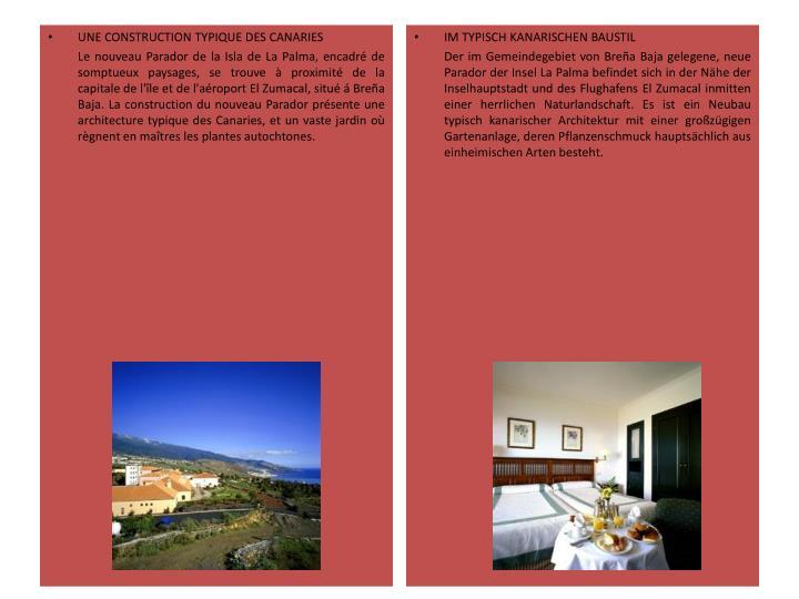 UNE CONSTRUCTION TYPIQUE DES CANARIES