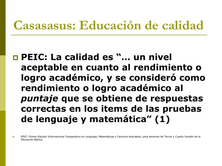 Casasasus: Educación de calidad