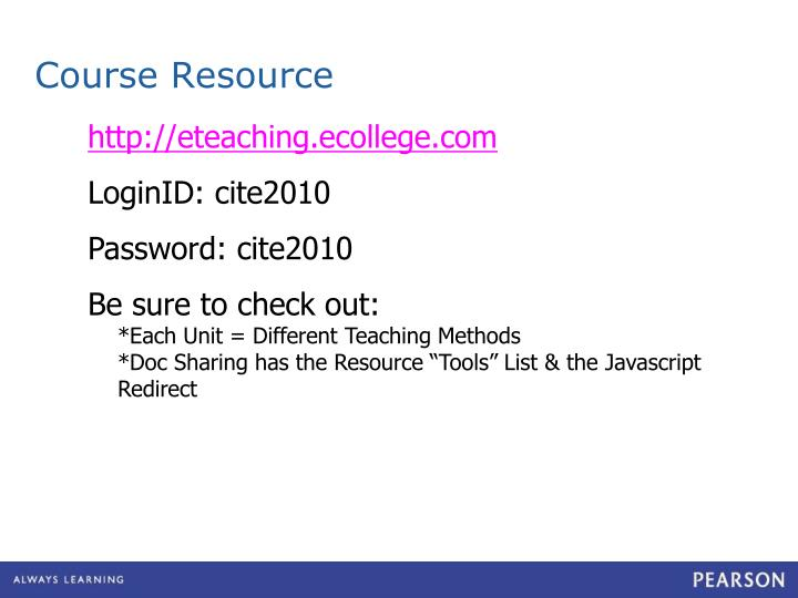 Course Resource