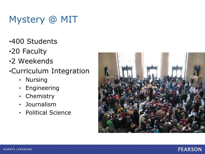 Mystery @ MIT