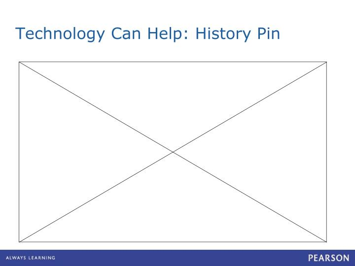 Technology Can Help: History Pin
