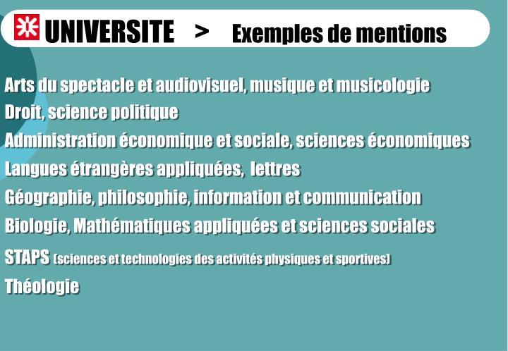 UNIVERSITE    >