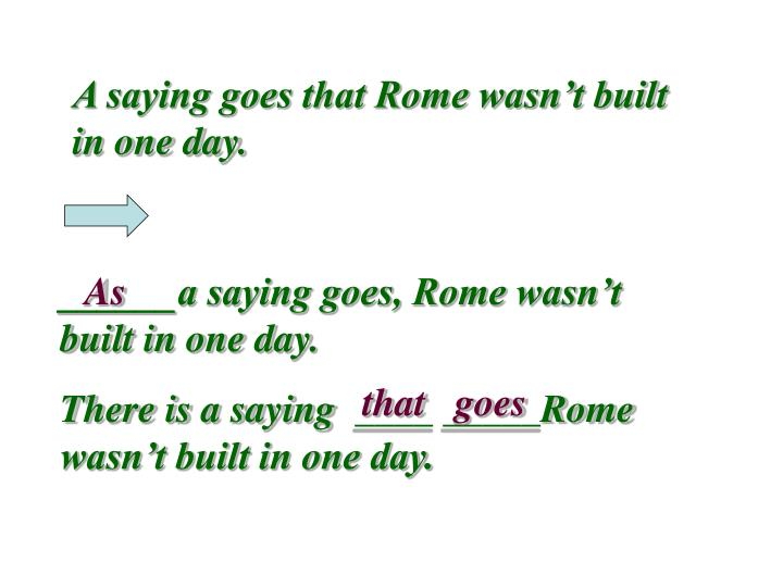 A saying goes that Rome wasn't built in one day.