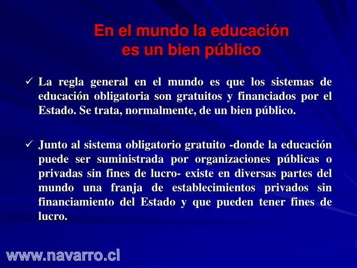 En el mundo la educación