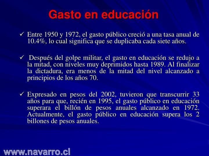 Gasto en educación