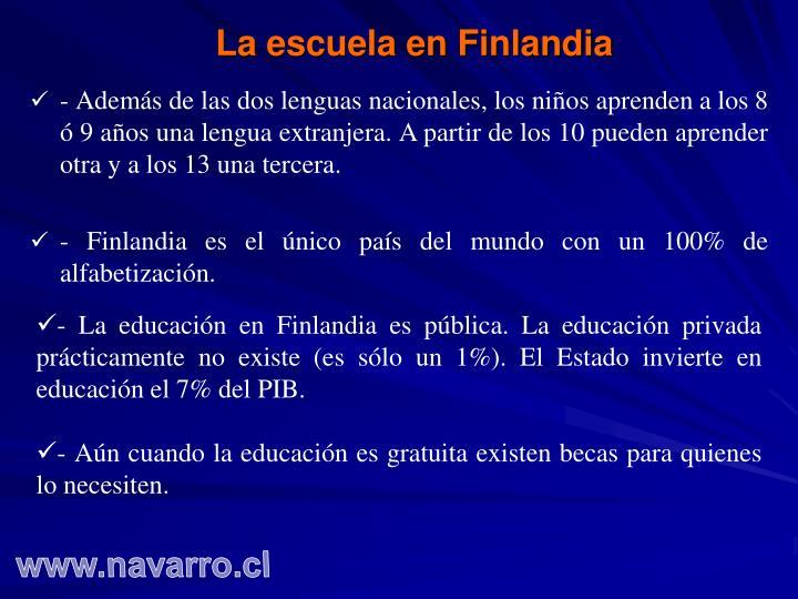 La escuela en Finlandia
