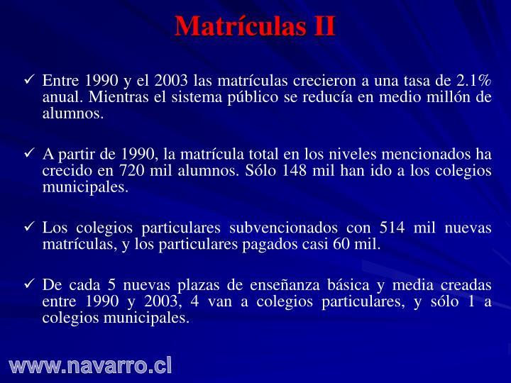Matrículas II