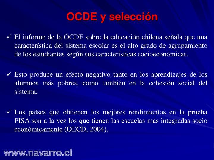 OCDE y selección