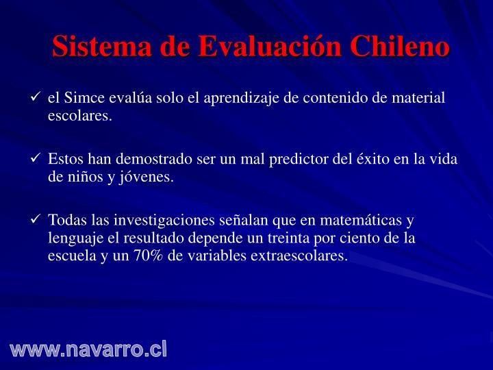 Sistema de Evaluación Chileno