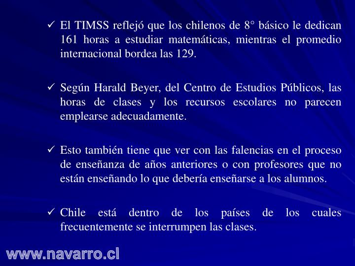 El TIMSS reflejó que los chilenos de 8° básico le dedican 161 horas a estudiar matemáticas, mientras el promedio internacional bordea las 129.