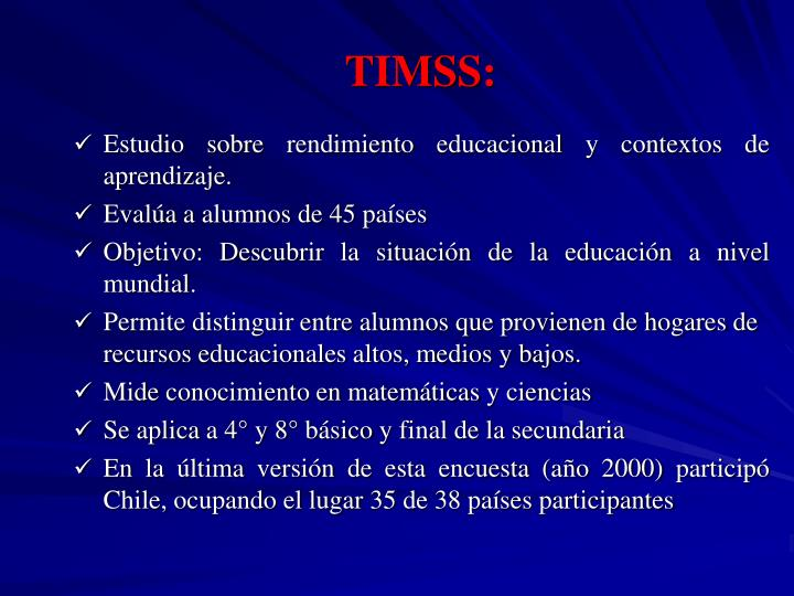 TIMSS: