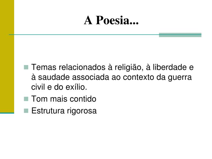 A Poesia...