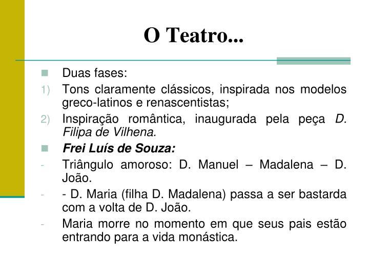 O Teatro...