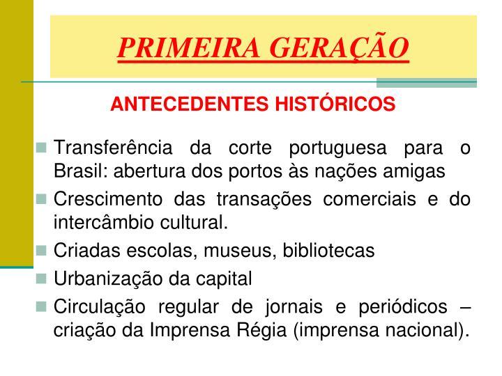 PRIMEIRA GERAÇÃO