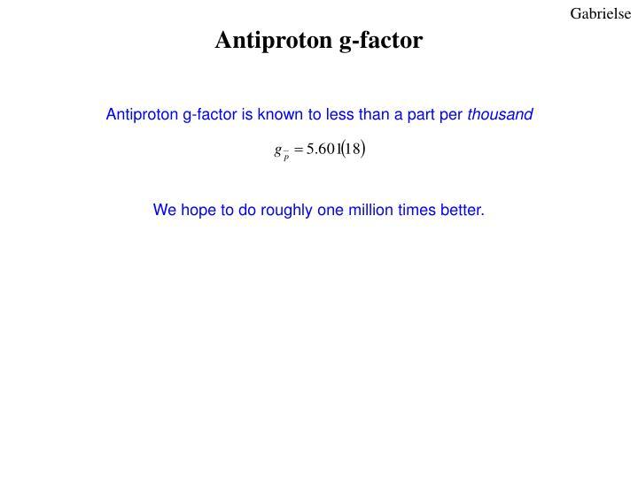 Antiproton g-factor