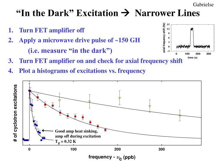 """In the Dark"" Excitation"