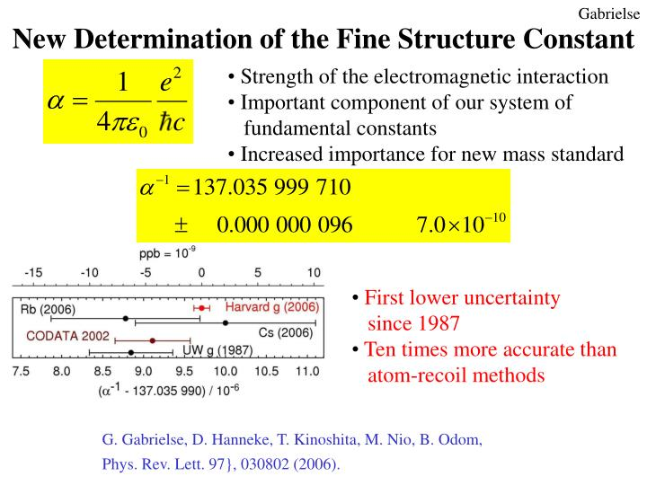 New Determination of the Fine Structure Constant