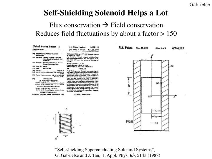 Self-Shielding Solenoid Helps a Lot