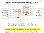 special relativity shift the energy levels d