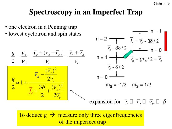 Spectroscopy in an Imperfect Trap