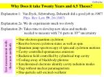 why does it take twenty years and 6 5 theses