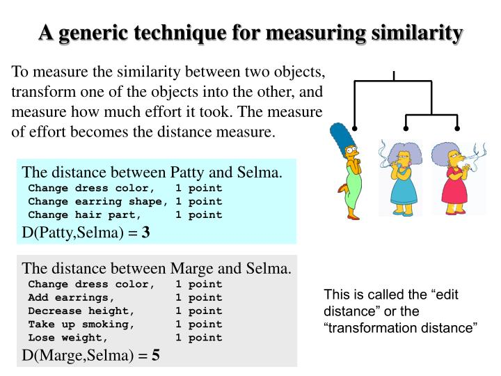 A generic technique for measuring similarity