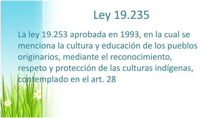 Ley 19.235