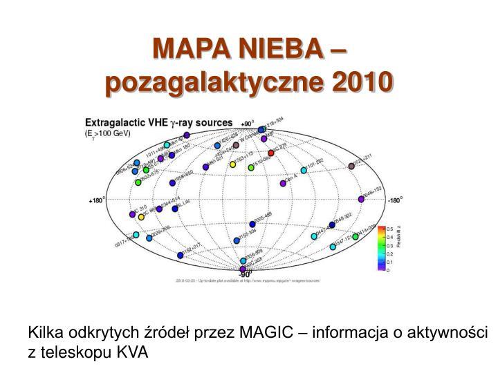 MAPA NIEBA – pozagalaktyczne 2010