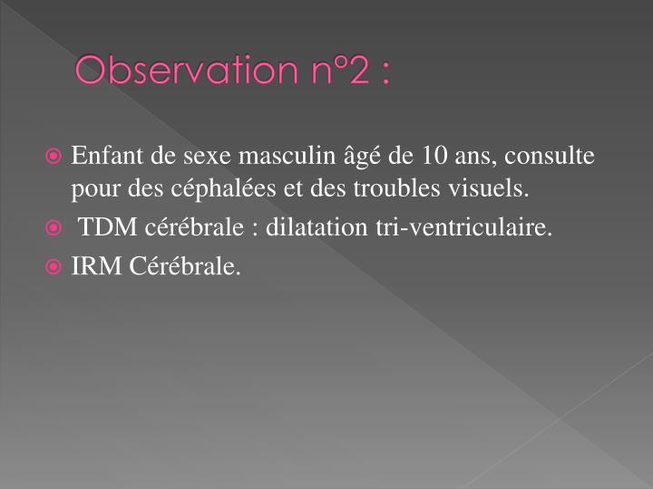 Observation n°2 :