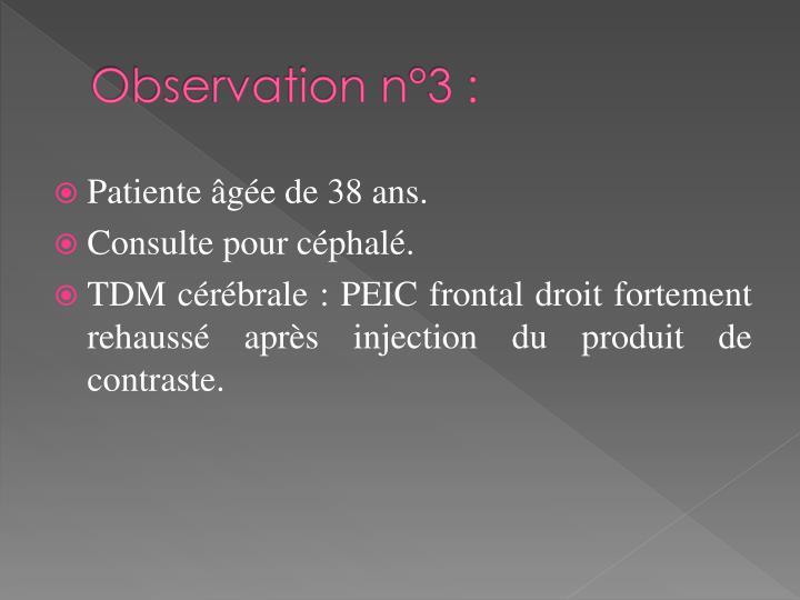 Observation n°3 :