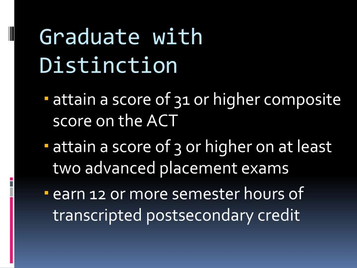 Graduate with Distinction