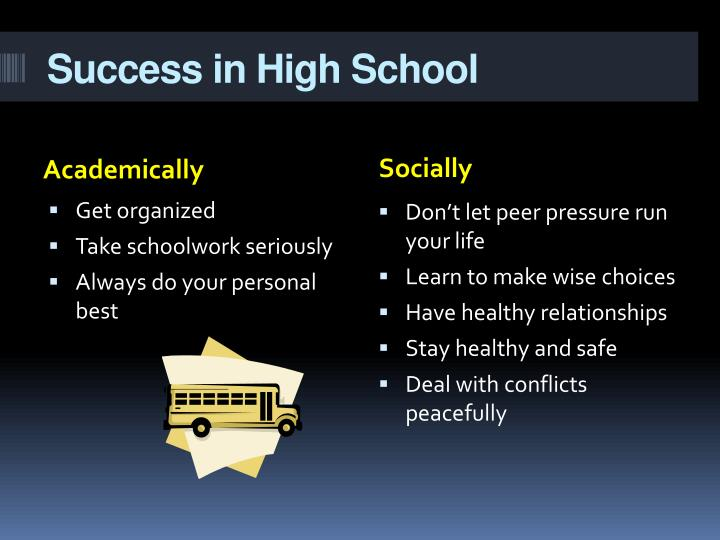 Success in high school
