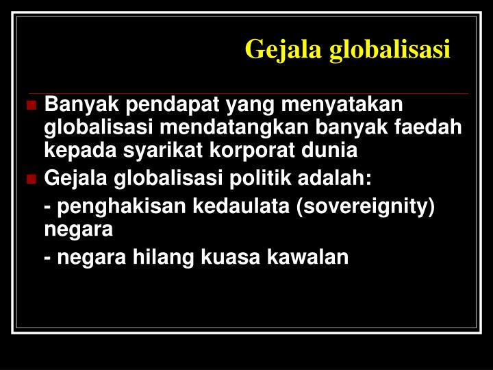 Gejala globalisasi