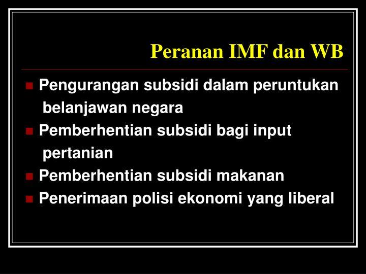 Peranan IMF dan WB