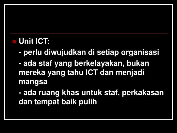 Unit ICT: