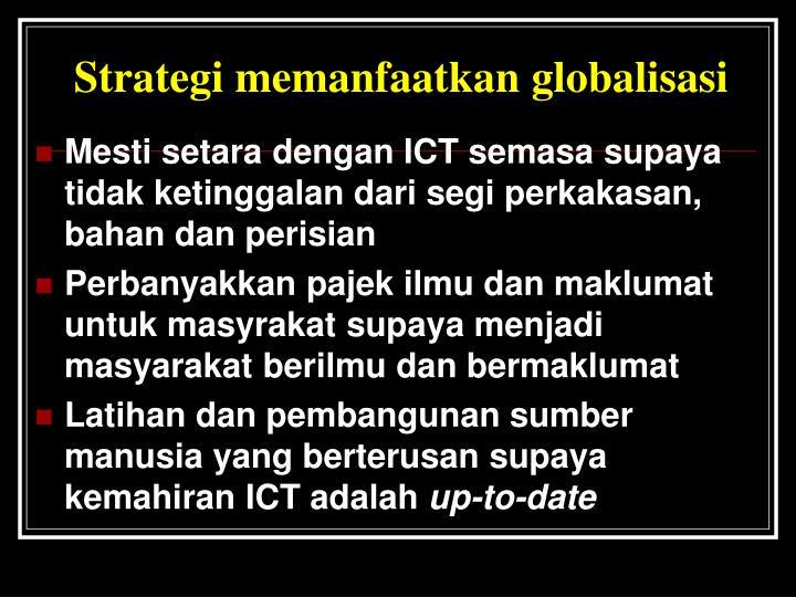 Strategi memanfaatkan globalisasi