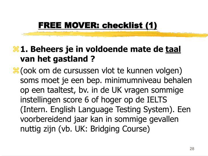 FREE MOVER: checklist (1)