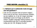 free mover checklist 1