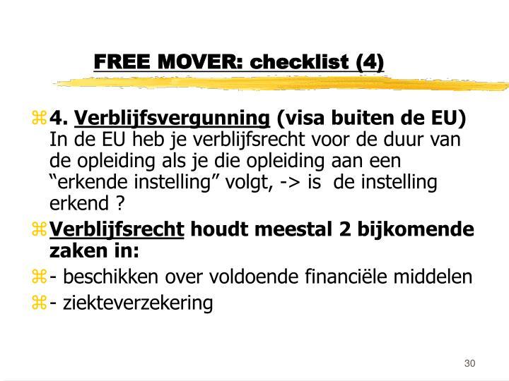 FREE MOVER: checklist (4)