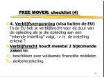 free mover checklist 4
