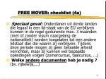 free mover checklist 4a