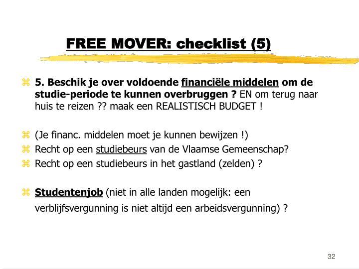 FREE MOVER: checklist (5)