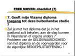free mover checklist 7