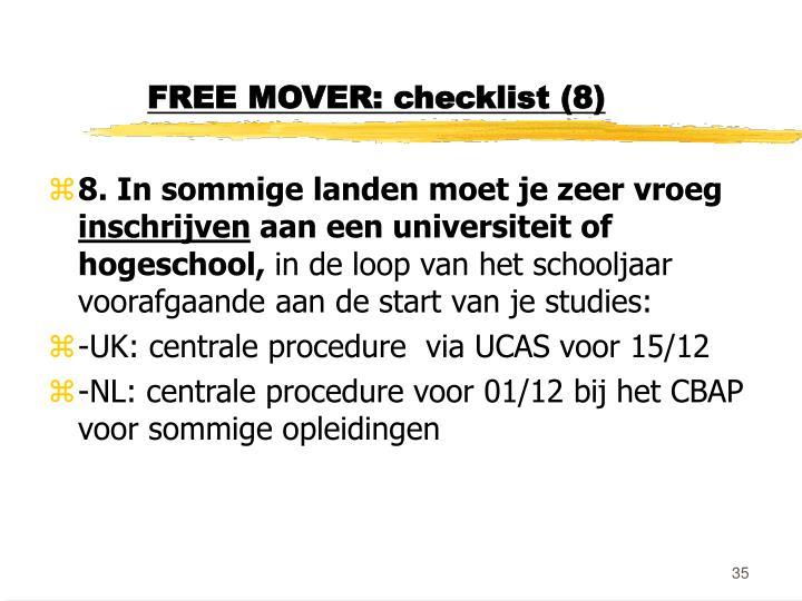 FREE MOVER: checklist (8)