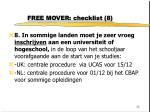free mover checklist 8