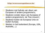 http www euroguidance be