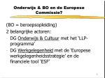 onderwijs bo en de europese commissie