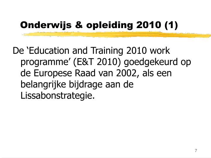 Onderwijs & opleiding 2010 (1)