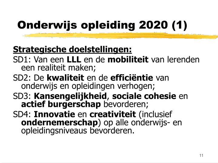 Onderwijs opleiding 2020 (1)