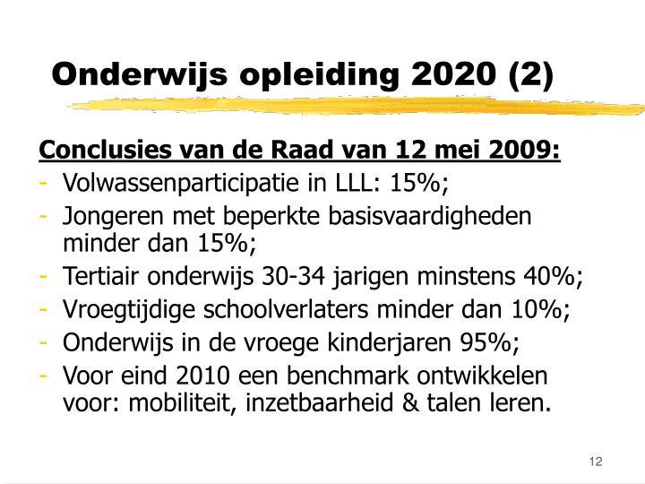 Onderwijs opleiding 2020 (2)